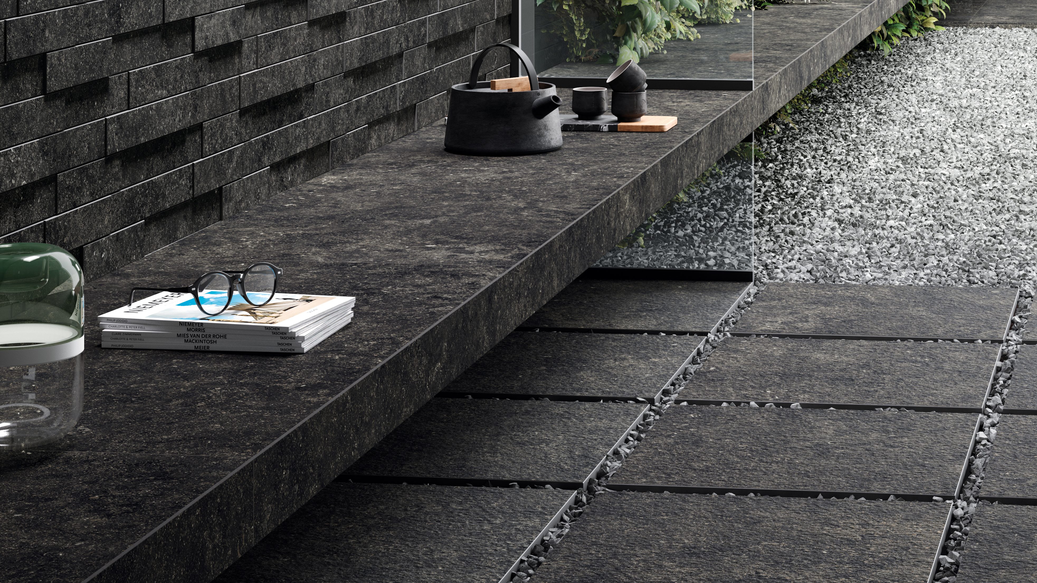 уличный керамогранит италон коллекция рум плитка под камень