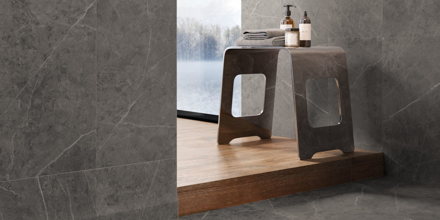 italon tiles charme evo marble effect porcelain stoneware grey tiles