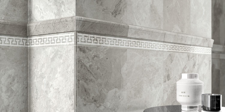 italon tiles charme extra marble effect porcelain stoneware grey tiles