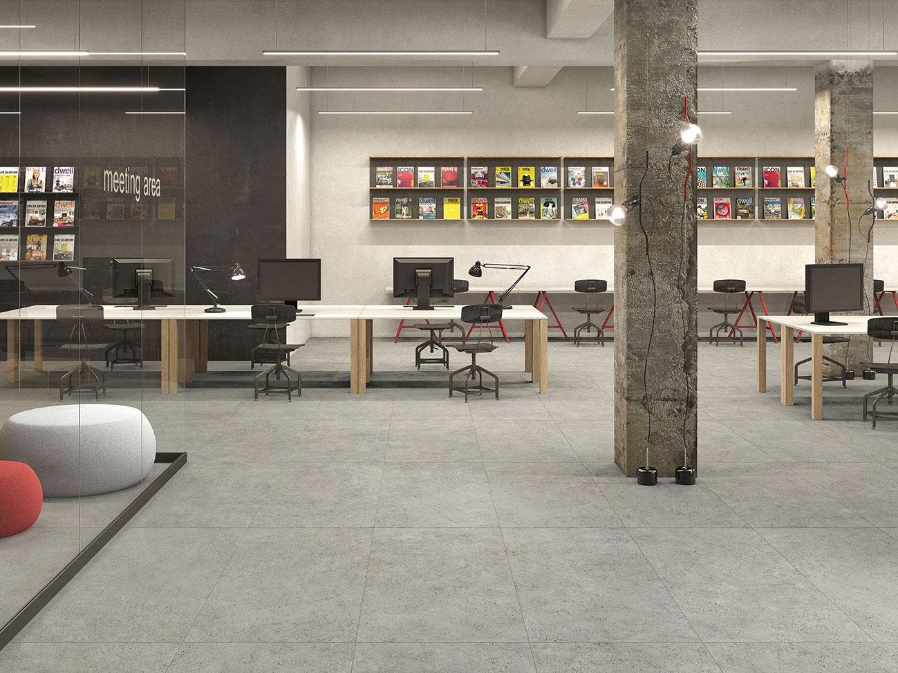 серый керамогранит под бетон плитка серая